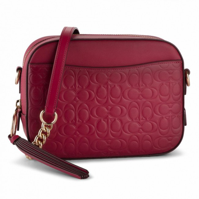 Kabelka COACH - Sig Lthr Cam Bag 39184 GDCNT Bright Cherry