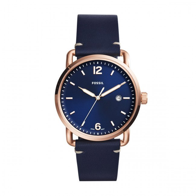 Hodinky FOSSIL - The Commuter 3H Date FS5274 Blue/Rose Gold