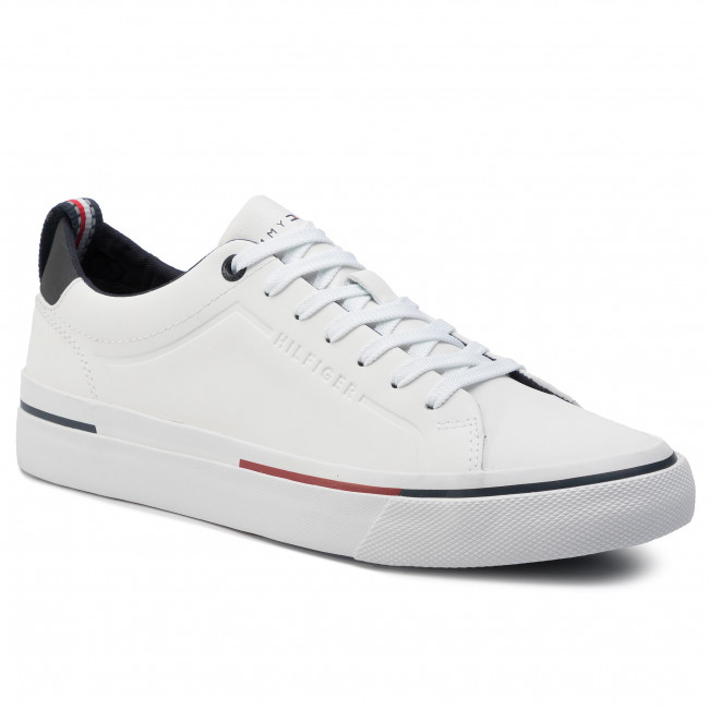 Tenisky TOMMY HILFIGER - Corporate Leather Sneaker FM0FM02285 White 100