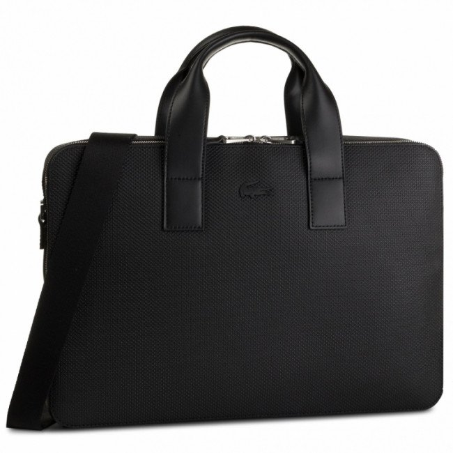 Taška na Laptop LACOSTE - Computer Bag NH2921CE Black 000