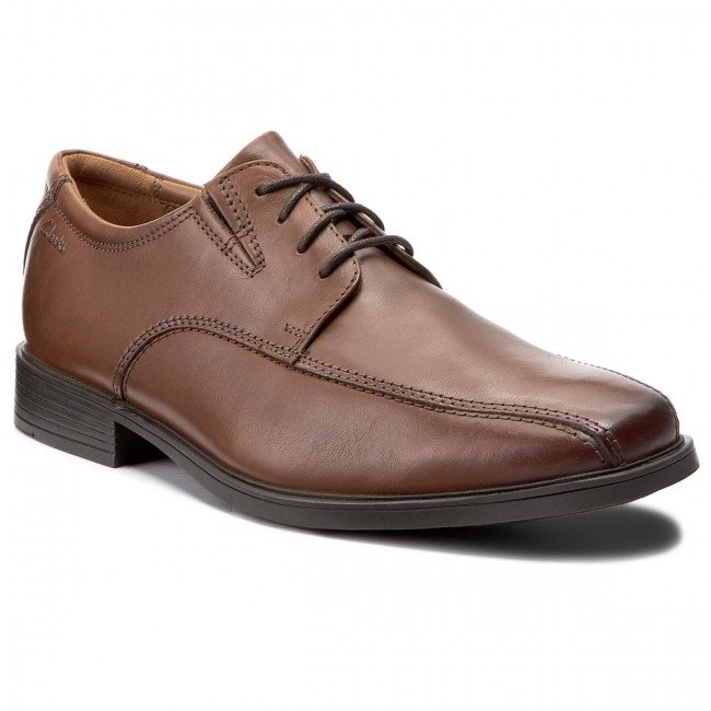 Poltopánky CLARKS - Tilden Walk 261300957 Dark Tan Leather