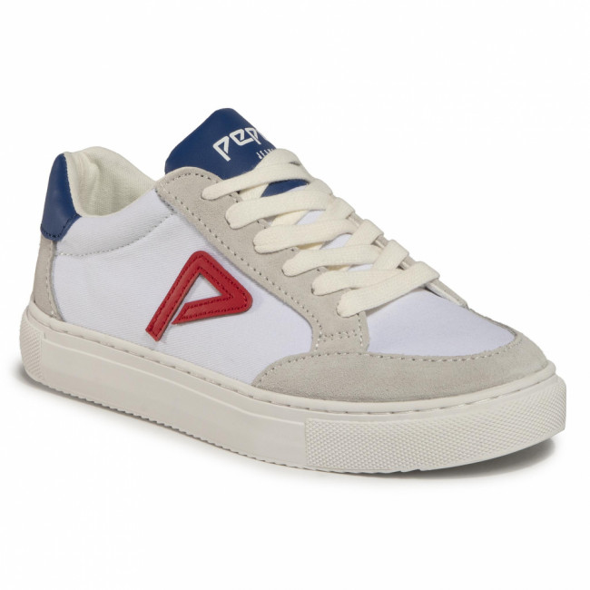 Sneakersy PEPE JEANS - Adams Archive Boys PBS30434 White 800