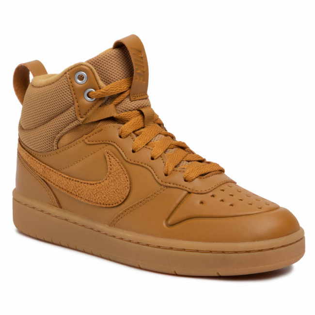 Topánky NIKE - Court Borough Mid 2 Boot (GS) BQ5440 700 Wheat/Wheat Gum Med Brown