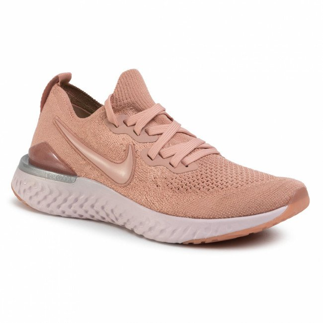Topánky NIKE - Epic React Flyknit 2 BQ8928 600 Rose Gold/Rose Gold