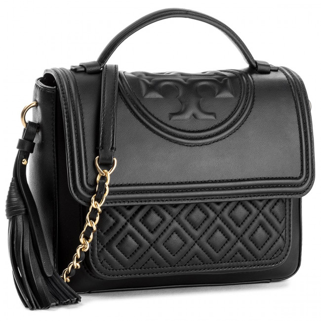 Kabelka TORY BURCH - Fleming Satchel 45147 Black 001