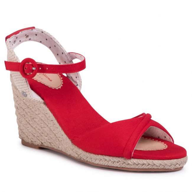 Espadrilky PEPE JEANS - Shark Lady PLS90454 Red 255