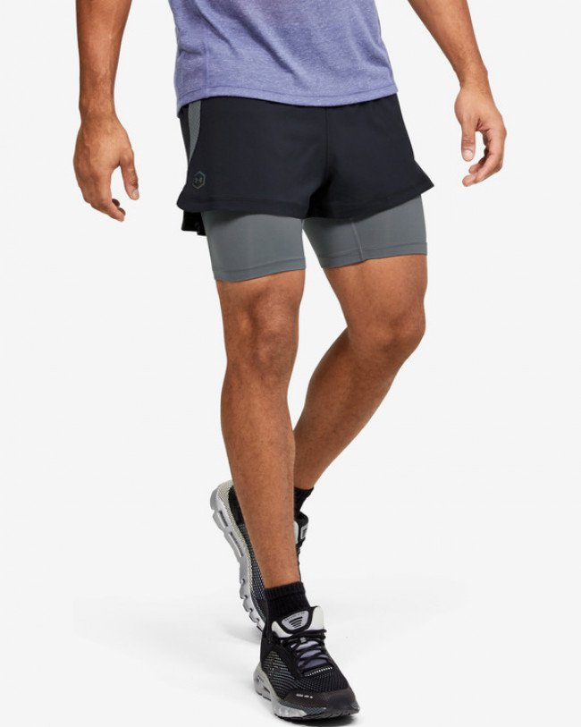 Under Armour RUSH™ Run 2-in-1 Kraťasy Čierna