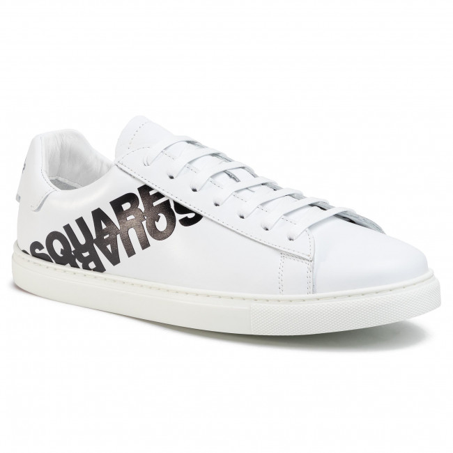 Sneakersy DSQUARED2 - Lace-Up Low Top Sneakers SNM0005 01501675 M072 Bianco/Nero
