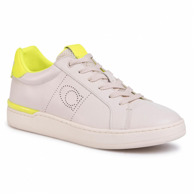 Sneakersy COACH - Lowline Ltr Low Top G5040 10011275 Chalk/Neon Yellow