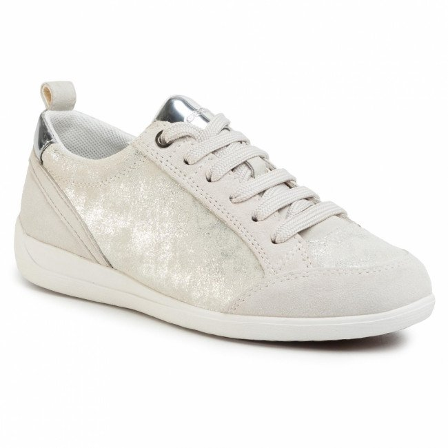 Sneakersy GEOX - D Myria A D0268A 07722 C0628 Silver/Off Wht
