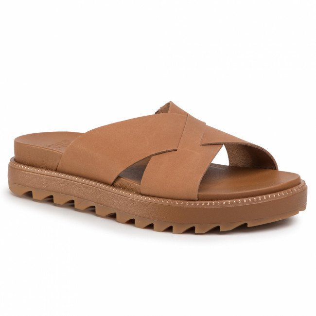 Šľapky SOREL - Roaming Criss Cross Slide NL3605-224 Camel Brown/Marron Chameau