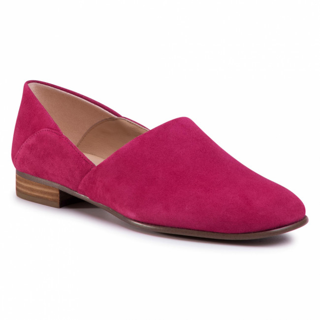 Poltopánky CLARKS - Pure Tone 261493074  Fuchsia Suede
