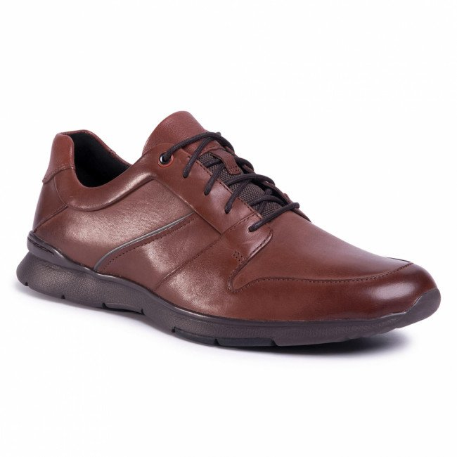 Poltopánky CLARKS - Un Tynamo Flow 261486927 Mahogany Leather