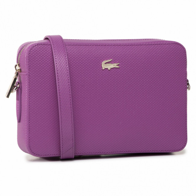 Kabelka LACOSTE - Square Crossover Bag NF2731CE Meadow Mauve D51
