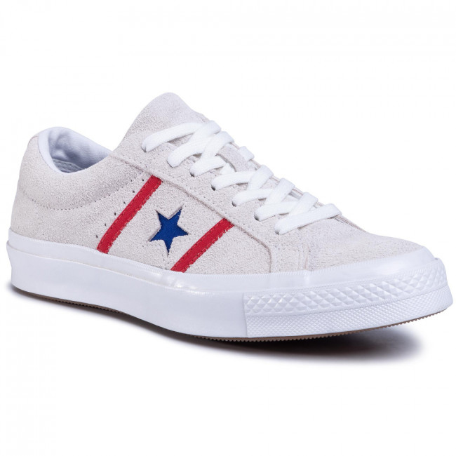 Tenisky CONVERSE - One Star Academy Ox 164390C White/Enamel Red/Blue