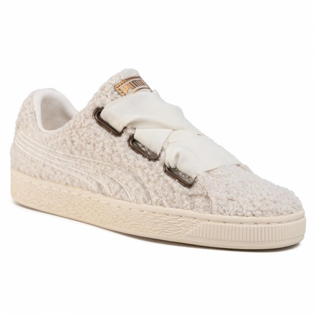 Sneakersy PUMA - Basket Heart Teddy Wn's 367030 01  Whisper White/Whisper White