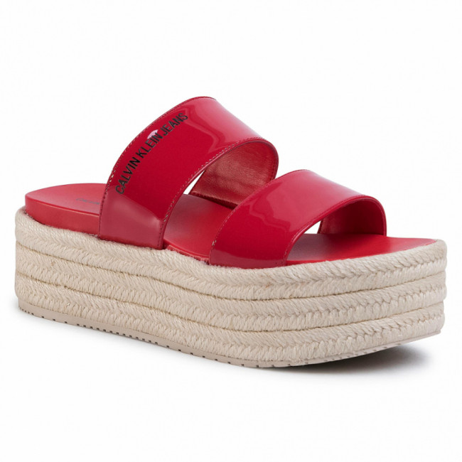 Espadrilky CALVIN KLEIN JEANS - Frances B4R0544 Racing Red