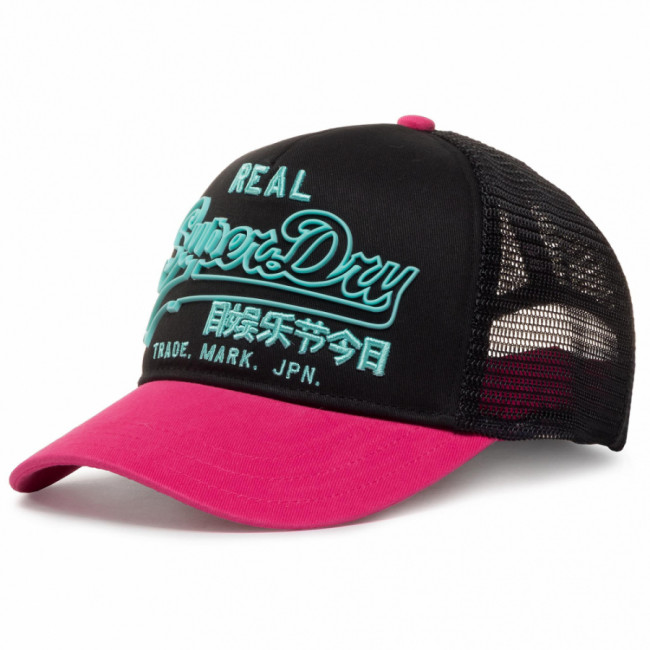 Šiltovka SUPERDRY - Premium Goods Outline Cap W9010001A Fluro Pink 28R