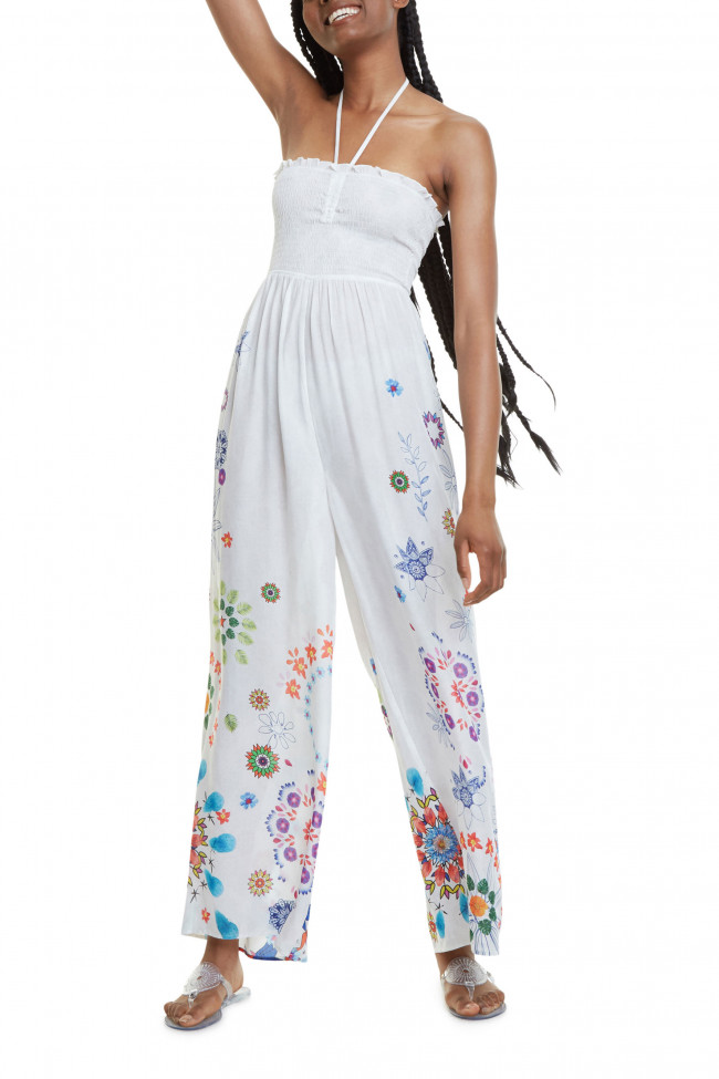 Desigual biely overal Pant Fiji