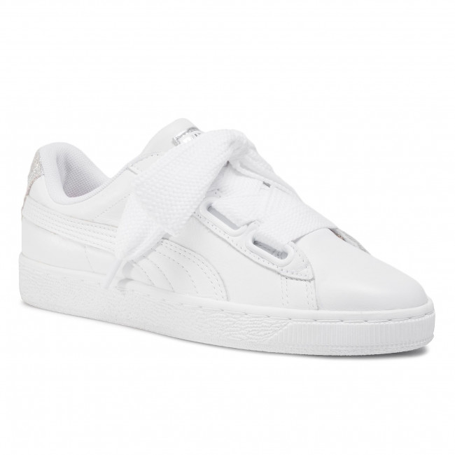 Sneakersy PUMA - Basket Heart Bio Hack Wn's 369223 01 Puma White/Puma Silver