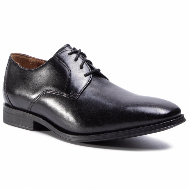 Poltopánky CLARKS - Gilman Lace 261276548  Black Leather