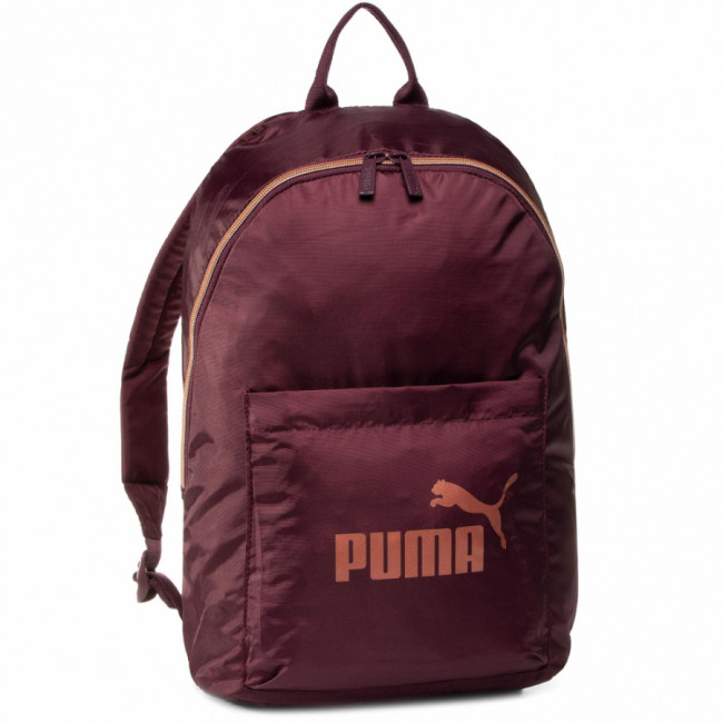 Ruksak PUMA -  Wmn Core Seasonal Backpack 076573 02 Vineyard wine/Rose Gold