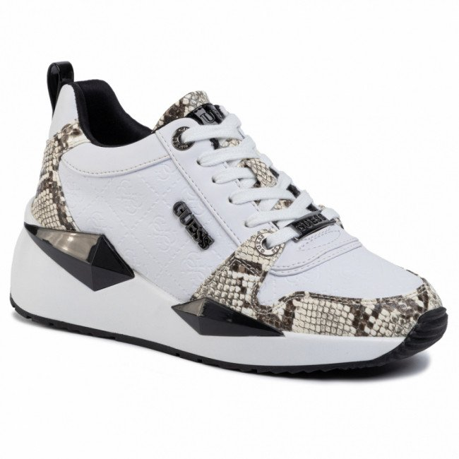 Sneakersy GUESS - Tallya FL5TLY FAL12 WHITE/BLACK