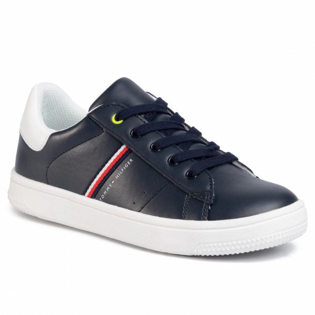 Sneakersy TOMMY HILFIGER - Low Cut Lace-Up Sneaker T3B4-30709-0621 S  Blue/White X007