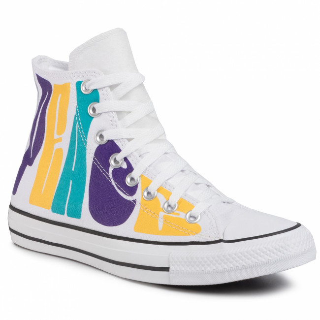 Tramky CONVERSE - Ctas Hi 167892C White/Court Purple/Amarillo