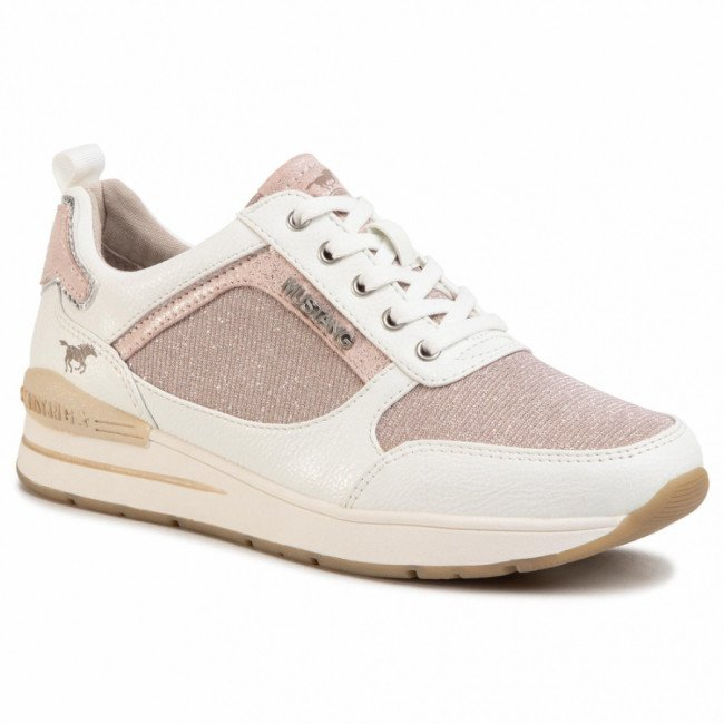 Sneakersy MUSTANG - 1352-301-155  Weiss/Rose