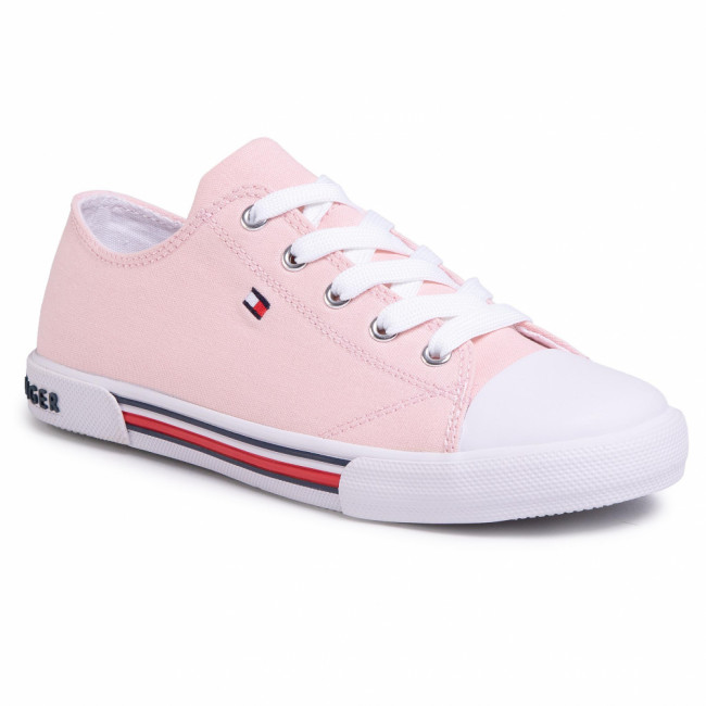 Tramky TOMMY HILFIGER - Low Cut Lace-Up Sneaker T3A4-30605-0890 S Pink 308