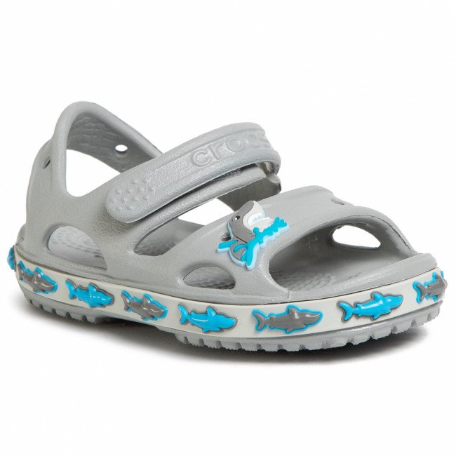Sandále CROCS - Fl Shark Band Sandal B 206365  Light Grey