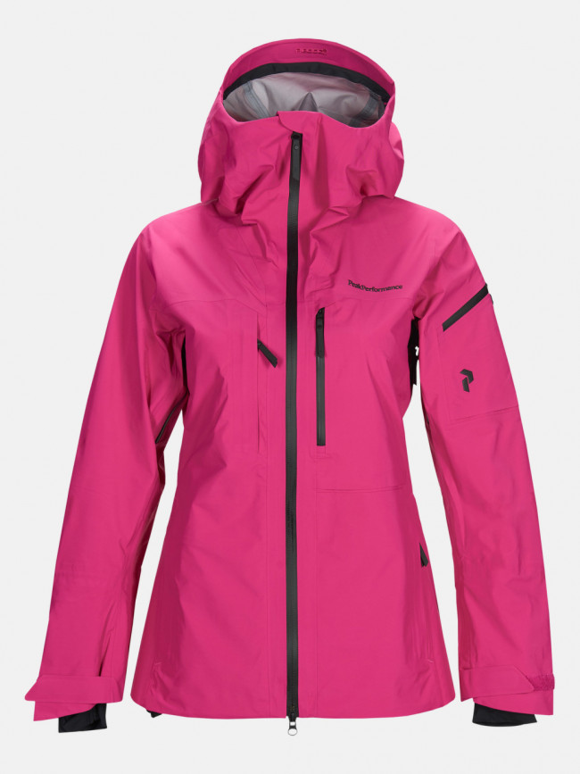 Bunda Peak Performance W Alp J Active Ski Jacket - Ružová