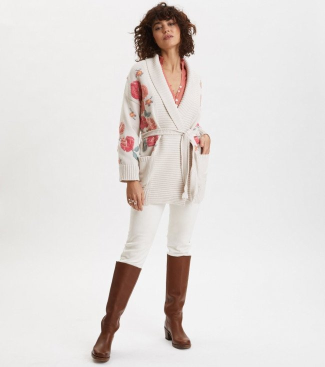 Sveter Odd Molly Enticing Embroidered Cardigan