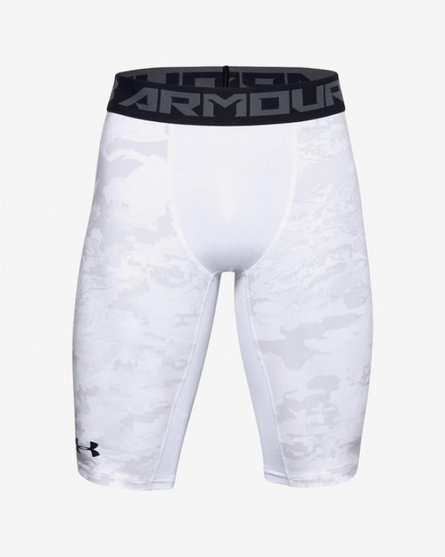 Under Armour HeatGear® Armour Extra Long Printed Kraťasy Biela