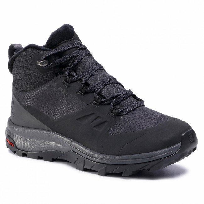 Trekingová obuv SALOMON - Outsnap Cswp W 411101 20 V0 Black/Ebony/Black