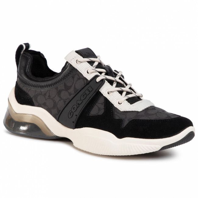 Sneakersy COACH - Citysole Sig Runner G5047 10011275 Black/Chalk