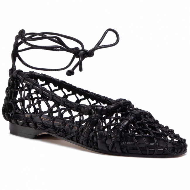 Poltopánky TORY BURCH - Helena 15Mm Mesh Lace Flat 71671 Perfect Black/Perfect Black 004