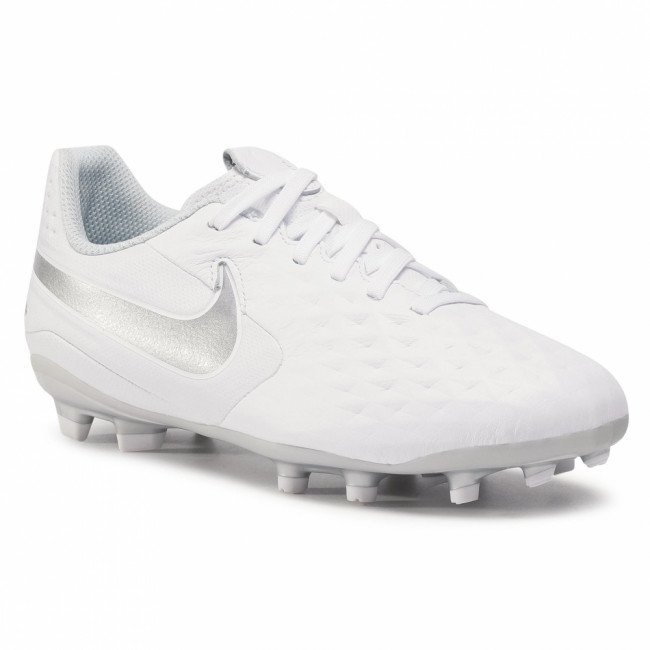 Topánky NIKE - Jr Legend 8 Academy Fg/Mg AT5732 100 White/Chrome/Pure Platinum