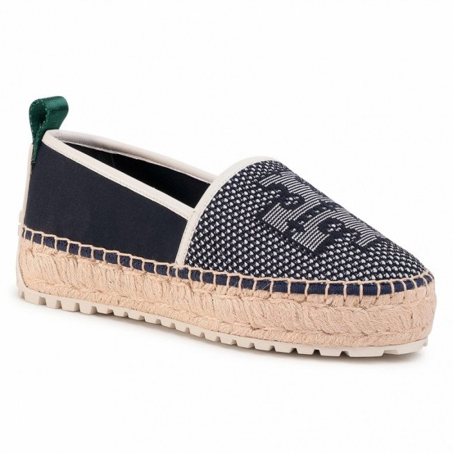 Espadrilky TORY BURCH - Miranda Lug Sole 63535 Perfect Navy/Perfect Navy/New Ivory 429