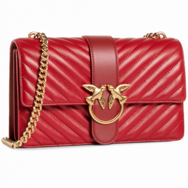 Kabelka PINKO - Love Classic Icon V Quilt Cl. Al 20-21 PLTT 1P21TK Y6KT Ruby Red R72
