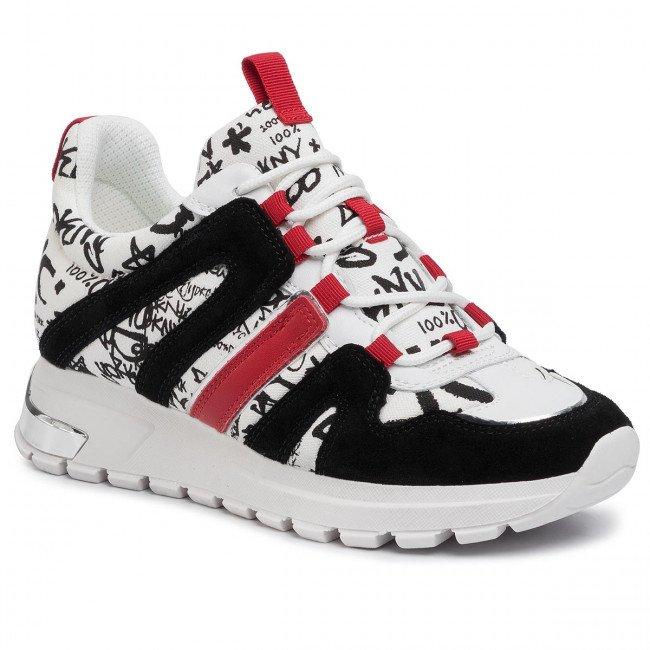 Sneakersy DKNY - Lace Up Sneake K4981757 Wht/Black Whb
