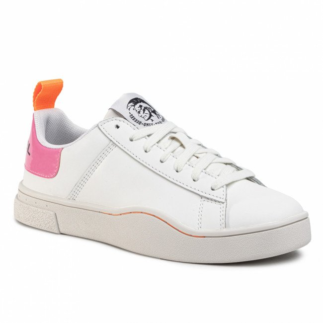 Sneakersy DIESEL - S-Clever Low Lace W Y02042 P0299 H7787 White/Fluo Pink