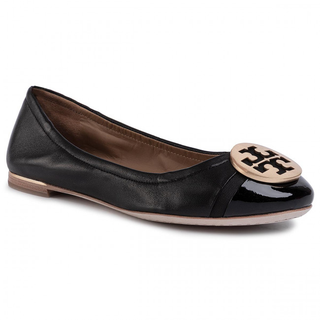 Baleríny TORY BURCH - Minnie Cap-Toe Ballet 63176 Perfect Black/Perfect Black 004