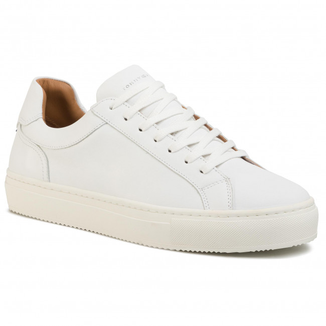Sneakersy TOMMY HILFIGER - Premium Cupsole Leather FM0FM02658 White YBS