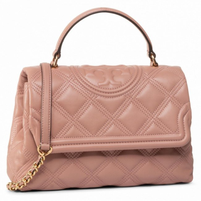 Kabelka TORY BURCH - Fleming Soft Top-Handle Satchel 62092 Pink Moon 689
