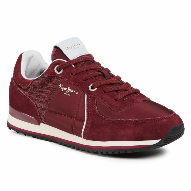 Sneakersy PEPE JEANS - Tinker City PMS30658 Bordeaux 298
