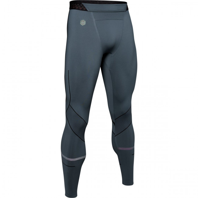 Kompresné legíny Under Armour Rush Graphic Legging-Gry