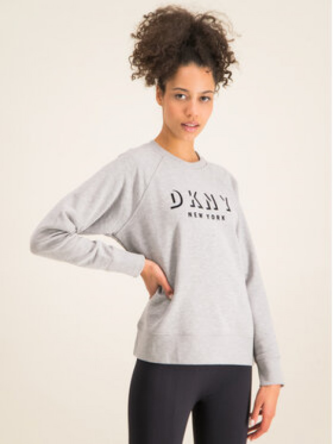 DKNY Sport Mikina DP9T7096 Sivá Regular Fit