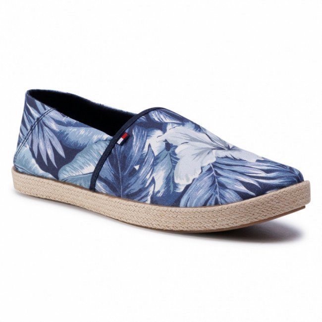 Espadrilky TOMMY HILFIGER - Palm Print Summer Slipon FM0FM02962 Palm Print 0GZ